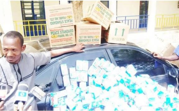 Fake Pharmacist Caught With 6 Cartons Of Codeine [Photo]