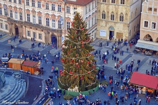 Praga, vista dalla Torre dell'Orologio Astronomico