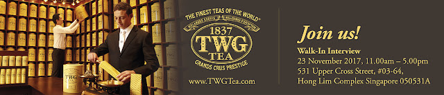 Love tea? Join us in this walk-in interview on 23 Nov! (hint: Grands Cruz Prestige)
