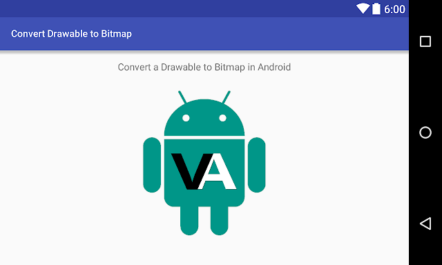 Android Example: Convert a Drawable to a Bitmap in Android