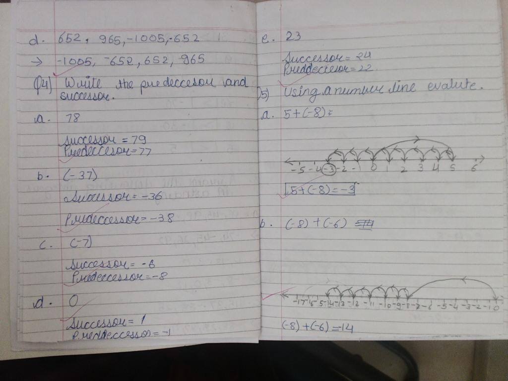 Pis Vadodara Std 7 Grade 7 Math Notebook Work