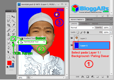Mengubah Warna Background Pas Foto di Photoshop