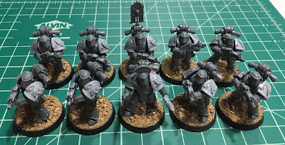 Horus Heresy First Tactical Squad WIP mark III plate