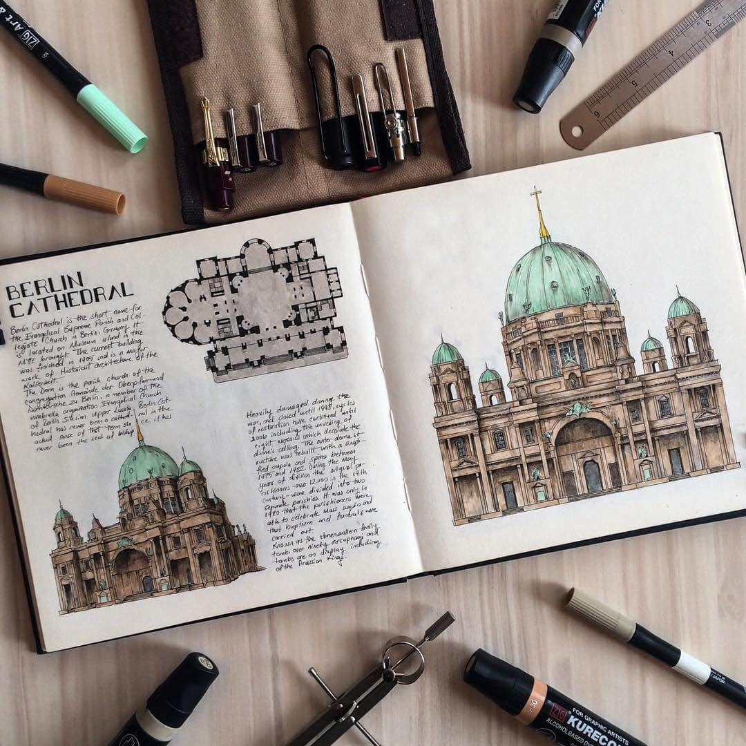 07-Germany-Berlin-Cathedral-Oğuzhan-Çengel-European-Heritage-Architectural-Drawings-www-designstack-co