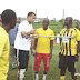 Injured Asante Kotoko Coach Steve Polack visits club's training center on crutches