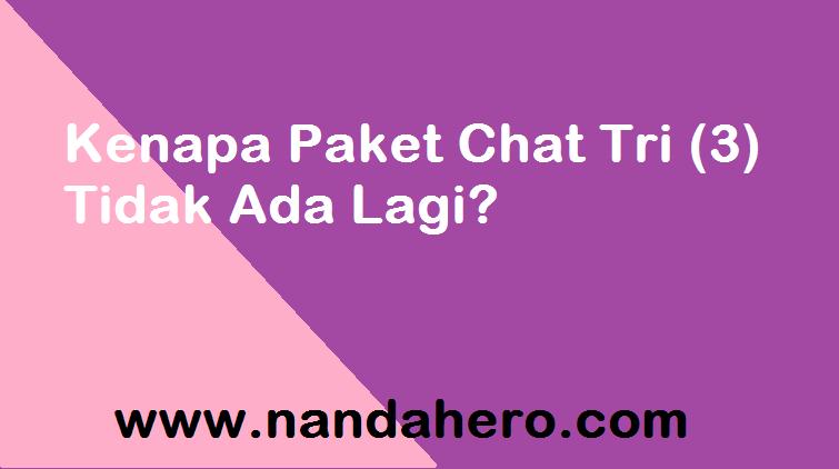 Mungkin agan yang lagi baca artikel ini Mengapa Paket Chat Tri (3) Tidak Ada Lagi? Baca Ini!