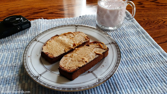 breakfast, banana bread, food diary, peanut butter toast, kefir, what I ate, healthy, eating