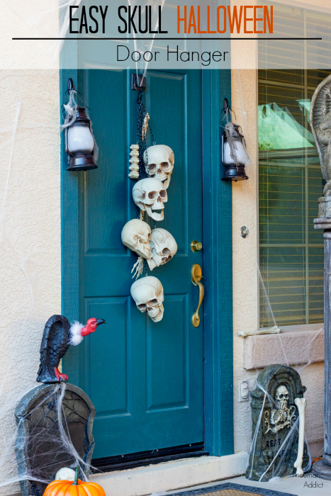 easy halloween skull door hanger tutorial