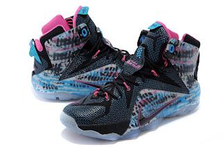 Nike LeBron james 12 full color Sepatu Basket Premium, harga  nike lebron james 12, jual lebron 12 chromosome ,sepatu basket nike lebron