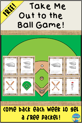 Get your free baseball themed open ended freebie to work on any goals!