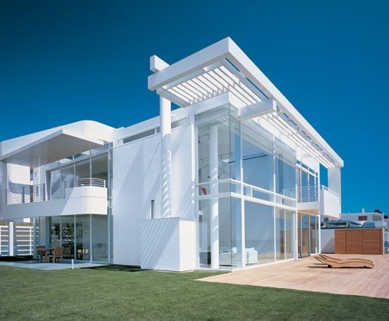 House designs white beach modern house exterior for White house exterior design