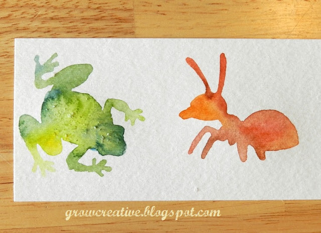 watercolor bugs and animals