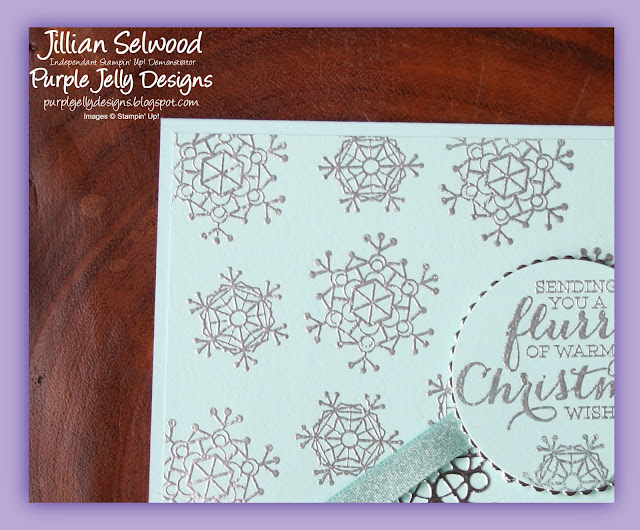Colourful Season Stamp Set, Silver Heat Embossing, Snowflakes, Christmas card
