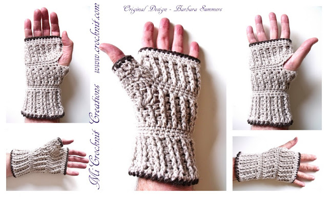 crochet patterns, how to crochet, mittens, man mitts, fingerless, gloves, men,