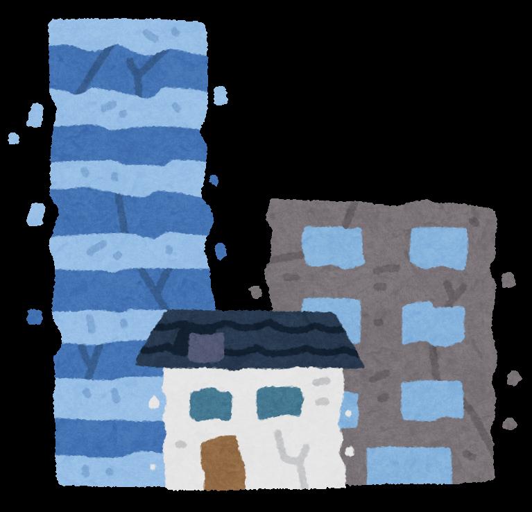 ぼろぼろの街のイラスト