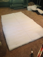 Climashield insulation for backpacking quilt