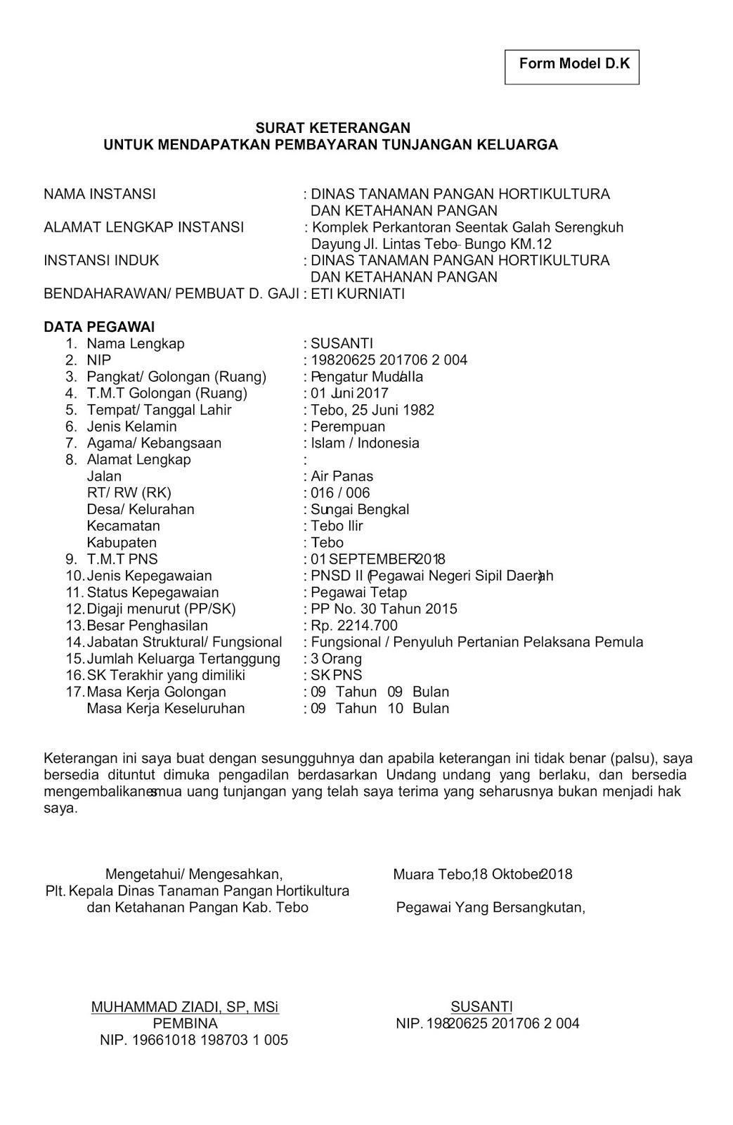 Contoh Surat Orton Surat Keterangan Untuk Mendapatkan