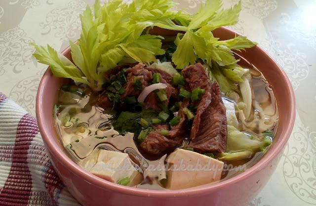 resepi sup daging sayur yang simple