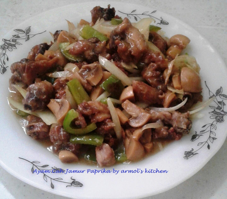 Resep Ayam Cah Jamur Paprika Resep Caca