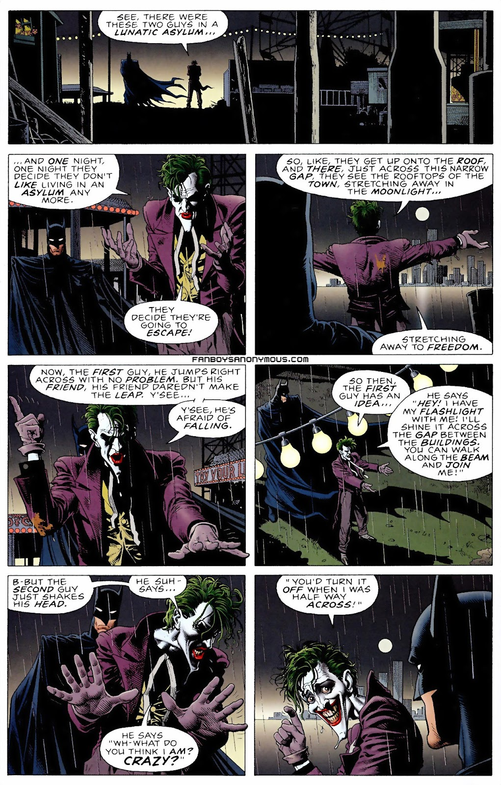 What is the joke at the end of The Killing Joke?