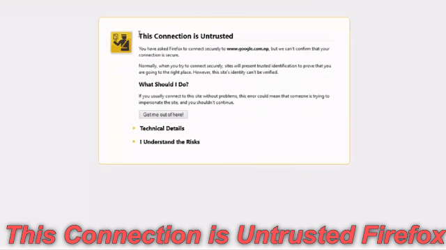 الحل النهائي والشامل حل مشكلة This Connection is Untrusted Firefox