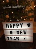 Leuchttafel - Happy New Year