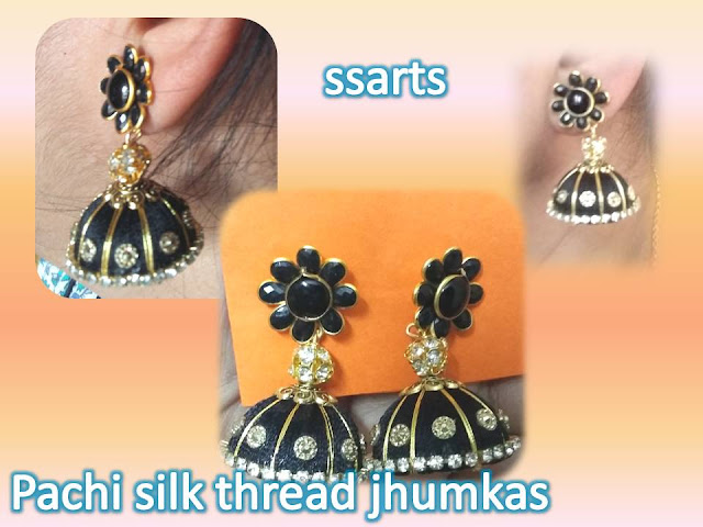 Here is silk thread jhumkas making at home,silk thread necklace,silkthread kids accessories,silk thread bangles making,silk thread choker ,silk thread jewellery making,How to make silk thread jhumka with pachi studs making at home