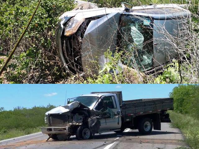 Dois veículos se envolvem em acidente entre Pé de Serra e Riachão