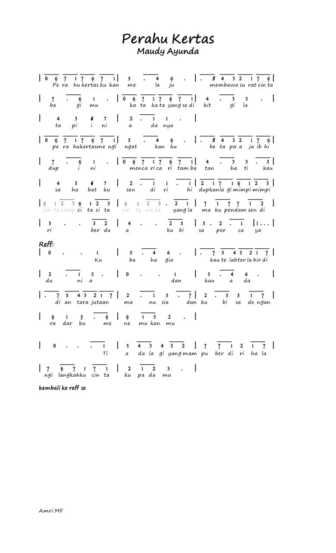 Kunci Gitar Perahu Kertas : kunci, gitar, perahu, kertas, Karaoke, Lirik, Perahu, Kertas, Lengkap, Dengan, Video, Kunci, Gitar