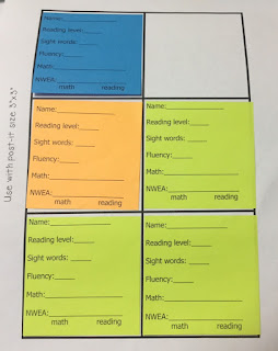 goal getters, printing on post it notes, sticky note classroom management
