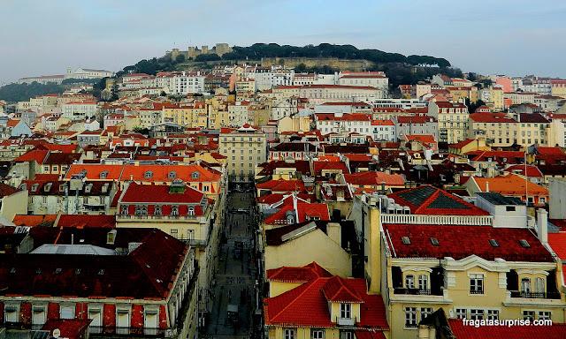 Lisboa, Portugal - vista do alto do Elevador de Santa Justa