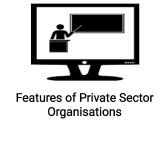Features of private sector organisations