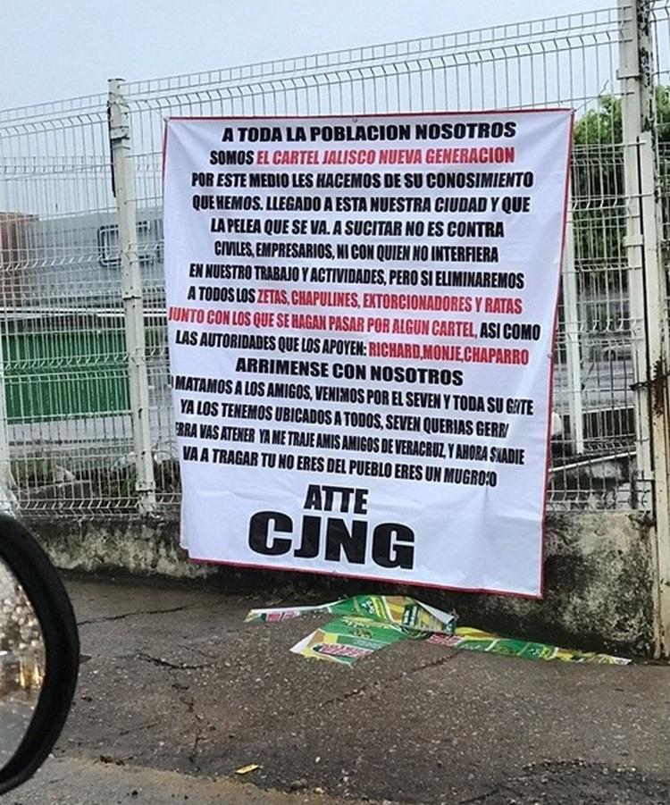 """""""Hemos llegado a nuestra ciudad, eliminaremos a todos los Zetas y venimos por el Seven""""  CJNG manda advertencia de acabar con todos."""