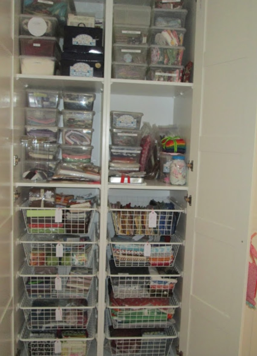 The hexie blog small space storage for sewing rooms for Small room storage