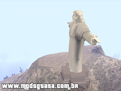 Cristo Redentor - Mount Chilliad para GTA San Andreas