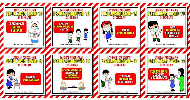 Poster Langkah Pencegahan Penularan Covid-19 (Sekolah ...