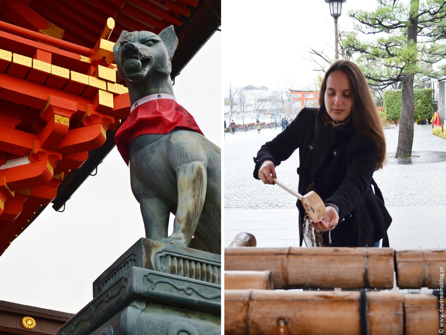 Templo de Fushimi Inari em Quioto no Japão