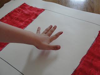 Hand print Canada flag