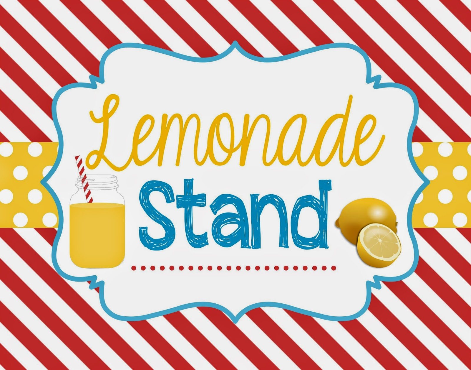 Two Magical Moms: Lemonade Stand Sign & Bunting Banner ...