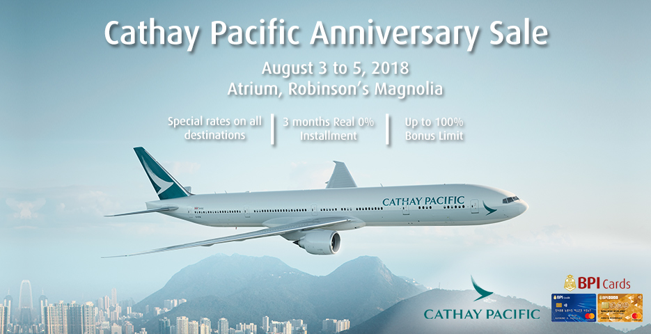 Manila Shopper: Cathay Pacific Anniversary SALE: August 2018