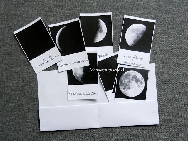 || Cartes de nomenclature à télécharger gratuitement ; Phases lunaires