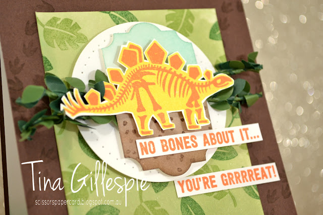 scissorspapercard, Stampin' Up!, Global Design Project, No Bones About It