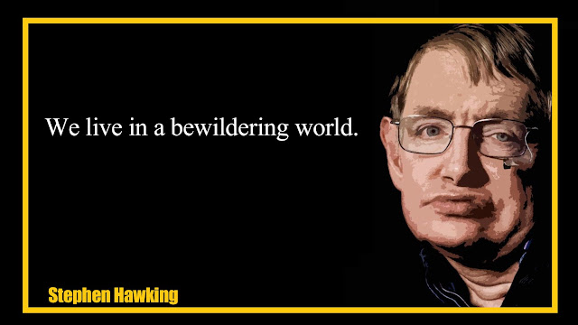 We live in bewildering world Stephen Hawking Quotes