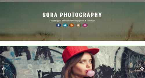 Sora Photography Blogger Template