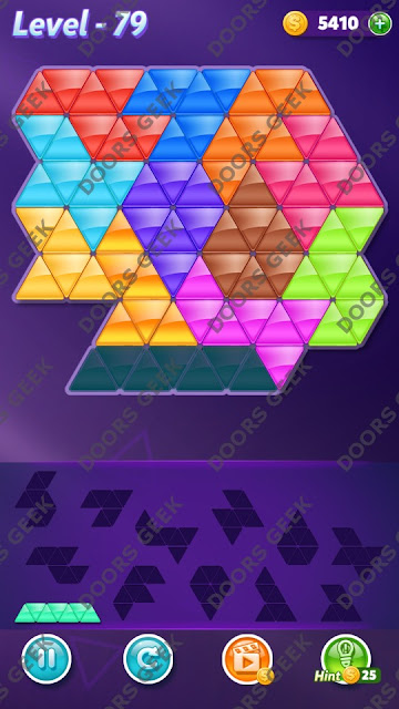 Block! Triangle Puzzle Grandmaster Level 79 Solution, Cheats, Walkthrough for Android, iPhone, iPad and iPod