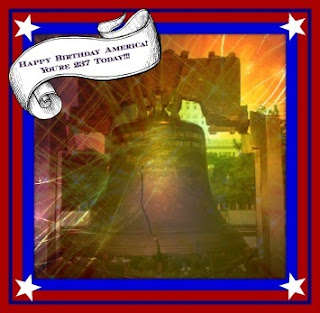 Liberty Bell birthday greetings on July 4, 2013
