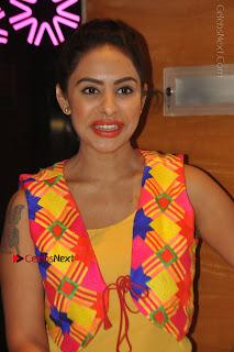 Telugu Actress Model Sri Reddy Latest Stills in Yellow Dress  0009.JPG