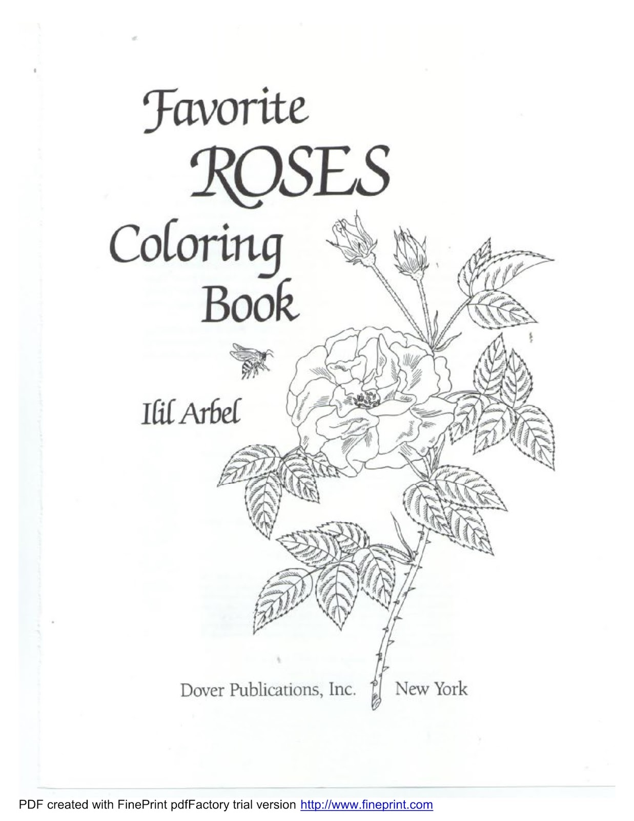 Download Favorite Roses Coloring Book Dover Page 49 Pages Format PDF Epub Size 525 Mb