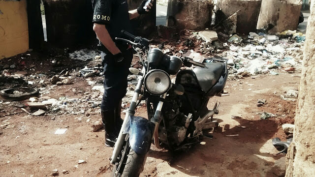 Guarda Civil equipe de ROMO localiza moto roubada próximo a favela do Elba divisa com Santo André