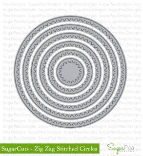 SugarCut - Zig Zag Stitched Circles